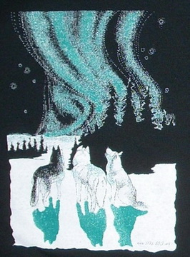 Huskies and Aurora Nightshirt